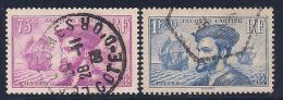 France, Scott # 296-7 Used Cartier, 1934