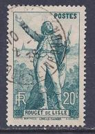 France, Scott # 309 Used Rouget De Lisle, 1936