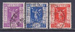 France, Scott # 315, 317-8 Used Paris Exposition, 1936
