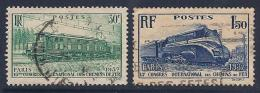 France, Scott # 327-8 Used Locomotives, 1937