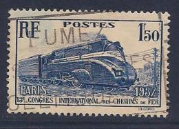 France, Scott # 328 Used Locomotive, 1937