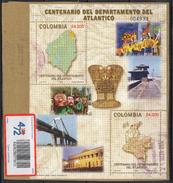 HF63-KOLUMBIEN / COLOMBIA.-S/S.- MI: BLOCK  64- 2005.- USED.-. 100 YEARS DEPT. OF ATLANTICO