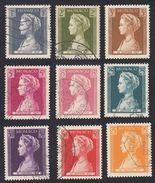 MONACO - 1957 -  Serie Completa Usata Composta Da Nove Valori: Yvert 478/486