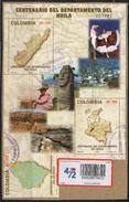 HF62.-.KOLUMBIEN / COLOMBIA.-S/S.- MI: BLOCK 64- 2005.- USED-100 YEARS OF HUILA DEPARTMENT-ADD STAMP ATLANTIC DEPT.
