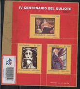 KOLUMBIEN / COLOMBIA.- 2005 -SHETT - USED - IV CENTENARY QUIJOTE DE LA MANCHA.