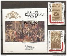 POLONIA 1991 - Yvert #3134/35+H122 - MNH ** - Blocs & Hojas