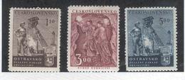 CZECHOSLOVAKIA 1951 Miner's Day, Scott Nos. 479-481 MH