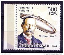 Guine Bi. MNH, John Philip Holland, Developed 1st Submarine, Ships, Transport