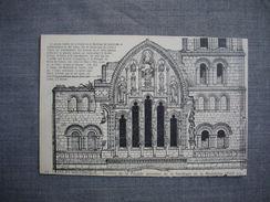 VEZELAY  -  89  -  Vézelay Historique  - Fenêtre De La Facade Ancienne De La Basilique De La Madeleine  -   YONNE