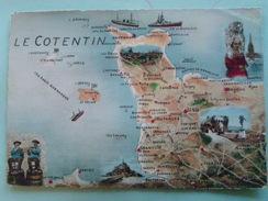 V01-02-A-departement-5o-manche-le Cotentin--carte Geo--dessins-beau Timbres--1958