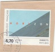 FRANCE 1996 DIBBETS YT 2987 OBLITERE SUR FRAGMENT -     TDA196A