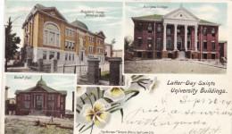 Latter-Day Saints University Buildings Salt Lake City Utah, Mormon School, C1900s Vintage Postcard - Schools