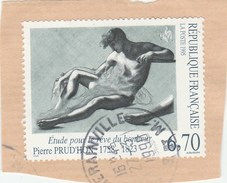 FRANCE 1995 P. PRUD HON YT 2927 OBLITERE SUR FRAGMENT -     TDA196A