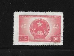 VIET-NAM 1957 ANNIVERSAIRE DE LA REPUBLIQUE  YVERT  N°128 OBLITERE