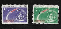 VIET-NAM 1961 YOURI GAGARINE  YVERT  N°228/29 OBLITERE