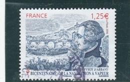 FRANCE 2016 BICENTENAIRE DE LA NAVIGATION A VAPEUR JOUFFROY D ABBANS OBLITERE YT 5044 - TDA197