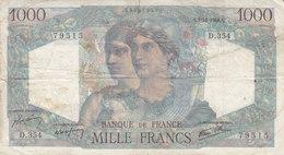 Billet 1000 F Minerve Et Hercule Du 3-10-1946 FAY 41.17 Alph. D.354 - 1 000 F 1945-1950 ''Minerve Et Hercule''