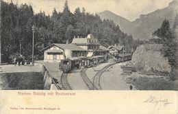 Hasliberg - Station Brünig Mit Restaurant - Verlag Chr. Brennenstuhl - Dos Simple - BE Berne
