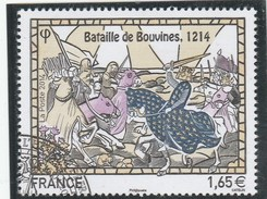 FRANCE 2014 BATAILLE DE BOUVINES YT 4858 OBLITERE -        TDA197