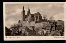 Quedlinburg - S/w Schloß Und Dom
