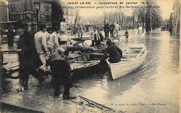 Choisy Le Roi - Inondation De Janvier 1910: Etablissement D'un Débarcadère (barques De Sauvetage) - Carte Non Circulée - Inondations