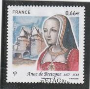 FRANCE 2014 ANNE DE BRETAGNE OBLITERE YT 4834  -                 TDA197