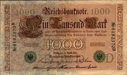 ALLEMAGNE EMPIRE 1000 MARK Du 21-4-1910 Pick 45b - [ 2] 1871-1918 : German Empire