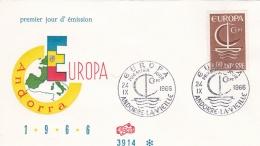 Andorre 1966 FDC Europa CEPT (T17-22) - Europa-CEPT