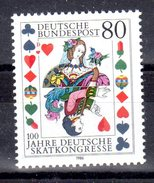 Bund 1986 Mi. 1293 ** Deutsche Skatkongresse Postfrisch (1921)