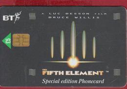 GREAT BRITAIN Chip BT Cinema The Fifth Element 1997 Telefoonkaart Telecarte PHONECARD Tarjeta Telecard TELEFONKARTE - Cinéma