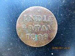 Indes Néerlandaises 5 1/16 Gulden (1 Duit) écu Couronné Des Pays-Bas 1808 Enkhuizen TB+ - [ 4] Colonies