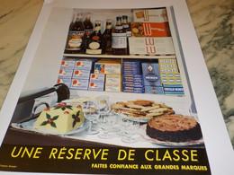 ANCIENNE PUBLICITE UNE RESERVE DE CLASSE GRANDES MARQUES 1955 - Posters