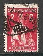004331 Portugal 1917 Ceres 2c FU Perf 15 X 14 - 1910-... Republic