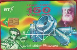 BT Chip Alexander Graham Bell 1997 Scotland Telefoonkaart Telecarte PHONECARD Tarjeta Telecard TELEFONKARTE - Personnages