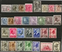 Belgique -  Lot De 30 Timbres Oblitérés Entre 1934 Et 1938 - Belgique