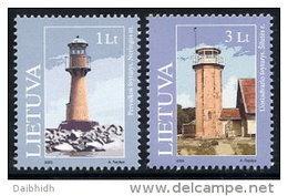 LITHUANIA 2003 Lighthouses Set Of 2 MNH / **.  Michel 814-15 - Lithuania