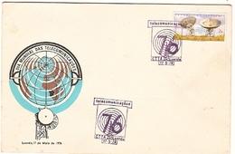 Angola & FDC Overseas, Via Satelite, Inauguration Of Earth Stations, Luanda 1976 (581)