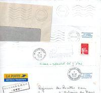 H611  5 Enveloppes Avec Cachets CRSF Chèques Postaux .. - Postmark Collection (Covers)