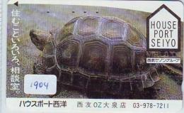 Télécarte Japon * TURTLE * TORTUE  (1904)  PHONECARD JAPAN * * TELEFONKARTE * SCHILDKRÖTE - Schildpadden