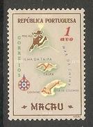 004365 Macao 1956 Maps 1Avo MNH - Nuovi