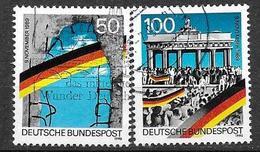 BRD  1990  Mi 1431 - 1432  1. Jahrestag Der Maueröffnung