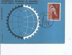 Cyclisme -Championnat Du Monde 1962 ( Carte Commémorative De Saint-Marin De 1962 à Voir)