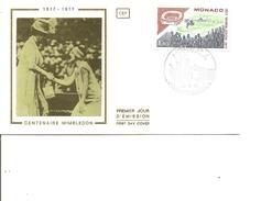 Tennis -Wimbledon ( FDC Sur Soie De Monaco De 1977 à Voir)