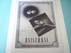 ANCIENNE PUBLICITE MONTRE UNIVERSAL GENEVE  1948 - Bijoux & Horlogerie