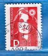 Francia ° - 1991 - Marianne BRIAT - Yvert N° 2712  Oblitérés.   Vedi Descrizione. - 1989-96 Marianne Du Bicentenaire