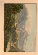 Chateau De Rhazuns Veritable Gravure De 1940 Hurlimann (23cm X 16 Cm) Bon Etat - GR Grisons