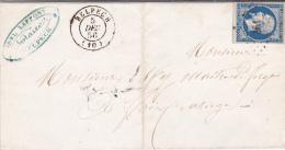 10 AUDE - BELPECH  - 1856 - Marcofilia (sobres)