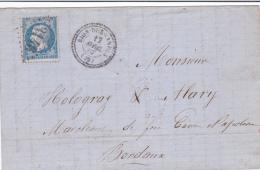 39 LANDES - RION-DES-LANDES - 1867 - Marcofilia (sobres)