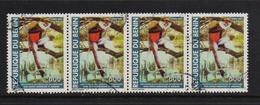 Benin 2004, 4x 600 Francs Monkey, Minr 1362, Vfu. Cv Undetermined