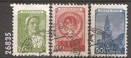1948/9 - YT 1327-1330-1331 (O) - VC: 9.25 Eur.